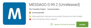 Messago 0.99.2 PlayStore