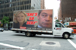 Marine Le Pen - Camion (photomontage)
