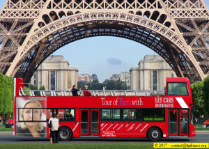 Marine Le Pen - Les Cars Rouges Tour Eiffel (photomontage)